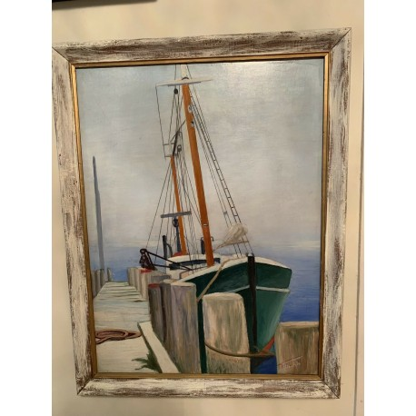 Vintage American Artists-Tolan OIL ON CANVAS WITH WOOD FRAME 1963 20.5x26.5 Inch