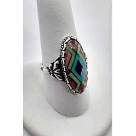 Vintage Sterling Silver Ring 925 Size 9 Carolyn Pollack CP
