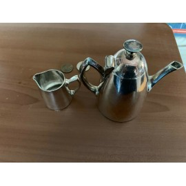 Antique Set 2 Vintage Items Small kettles 100 Falbesilber R84