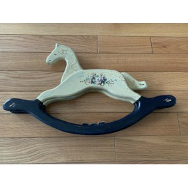 Vintage Rocking Horse Figurine Hand Painted Size 23x14 Inches
