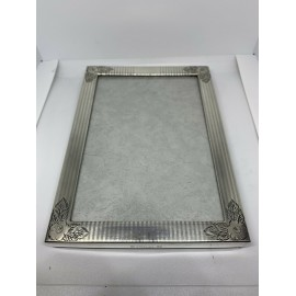 Antique Watrous Mfg Co Sterling Silver Photo Frame hand engraved floral c1920,31