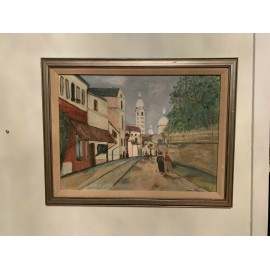 Oil Painting On Board Signed Halperin MODERN FRAMED IMPRESSIONISM Mid-Century