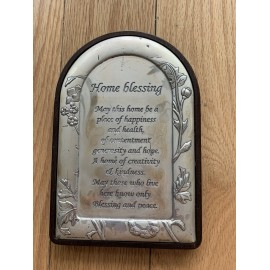 Hazorfim Silver Wall Art Picture Framed Israel Blessing 7x4.5 Inches