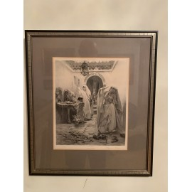 Engraving photo by the American orientalist painter Frederick Arthur Bridgman.